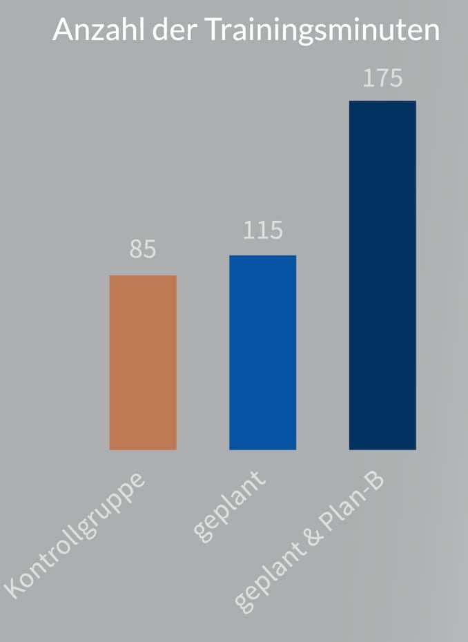 Ergebnisse Scholz & Sniehotta (2006) Grafik vereinfacht