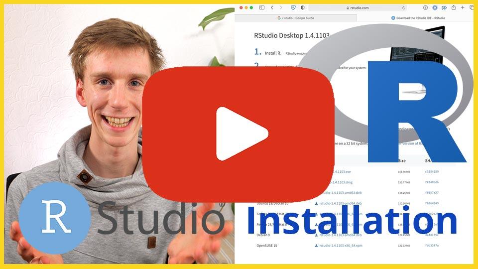 R installieren R Studio installieren Video