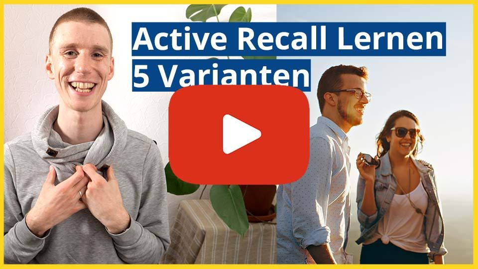 Link zum Video: Prüfung: Viel Lernen in wenig Zeit | 5 Varianten | mit Active Recall & Spaced Repetition lernen